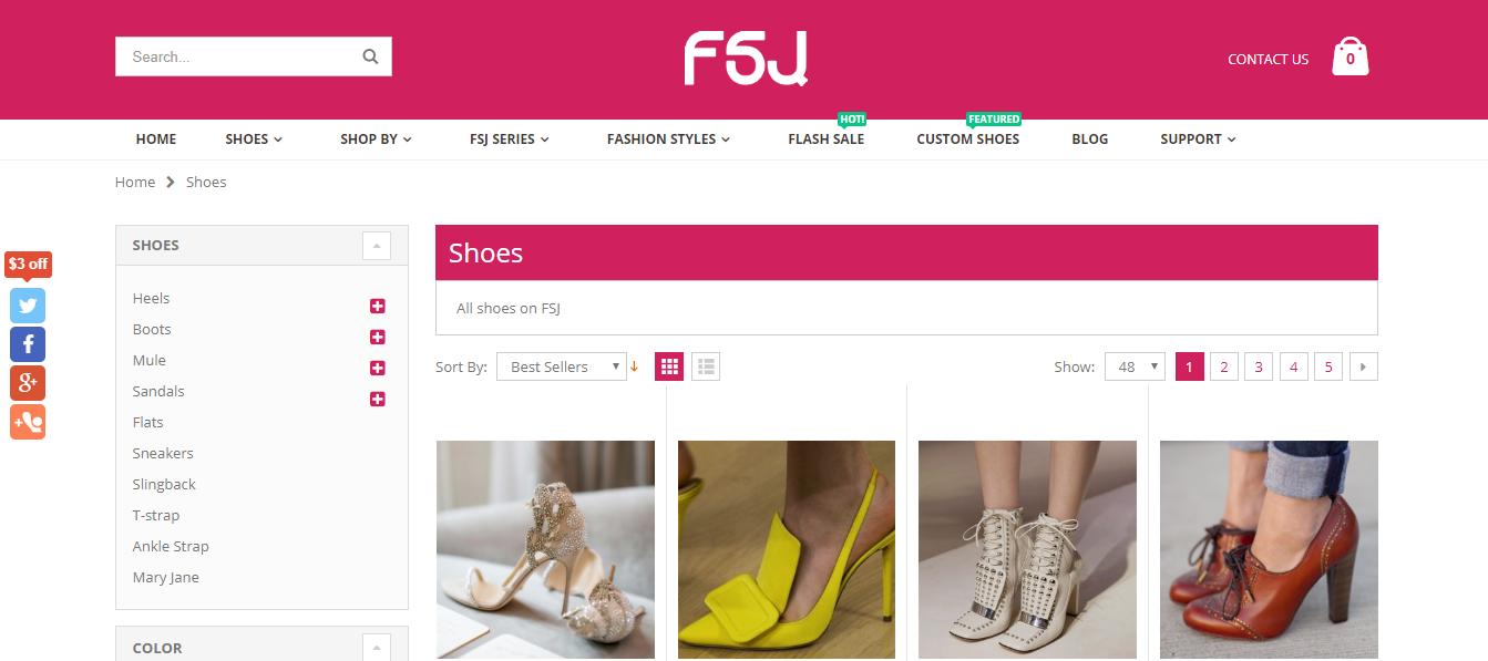 Compras online: conheça o site FSJ Shoes