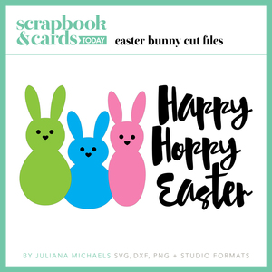 Easter Bunny Free Digital Cut File by Juliana Michaels featured in Spring 2016 Issue of Scrapbook and Cards Today