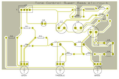 Super Bass Tone Control PCB Layout Design