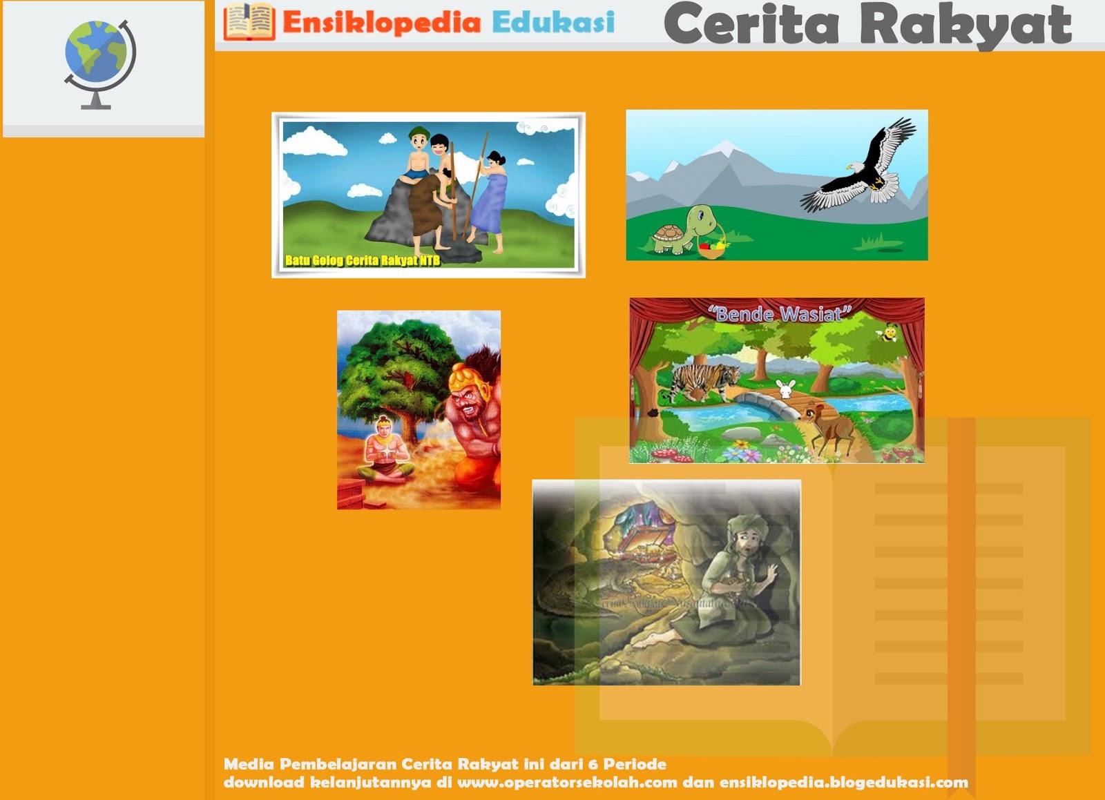 Media Pembelajaran Cerita Rakyat Periode II Terbuat dari PowerPoint (5 Judul)