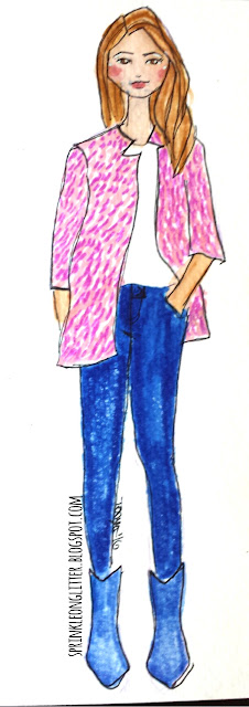 Sprinkle On Glitter Blog// Sketch worthy Reads-Lonestar Southern// fuzzy pink coat