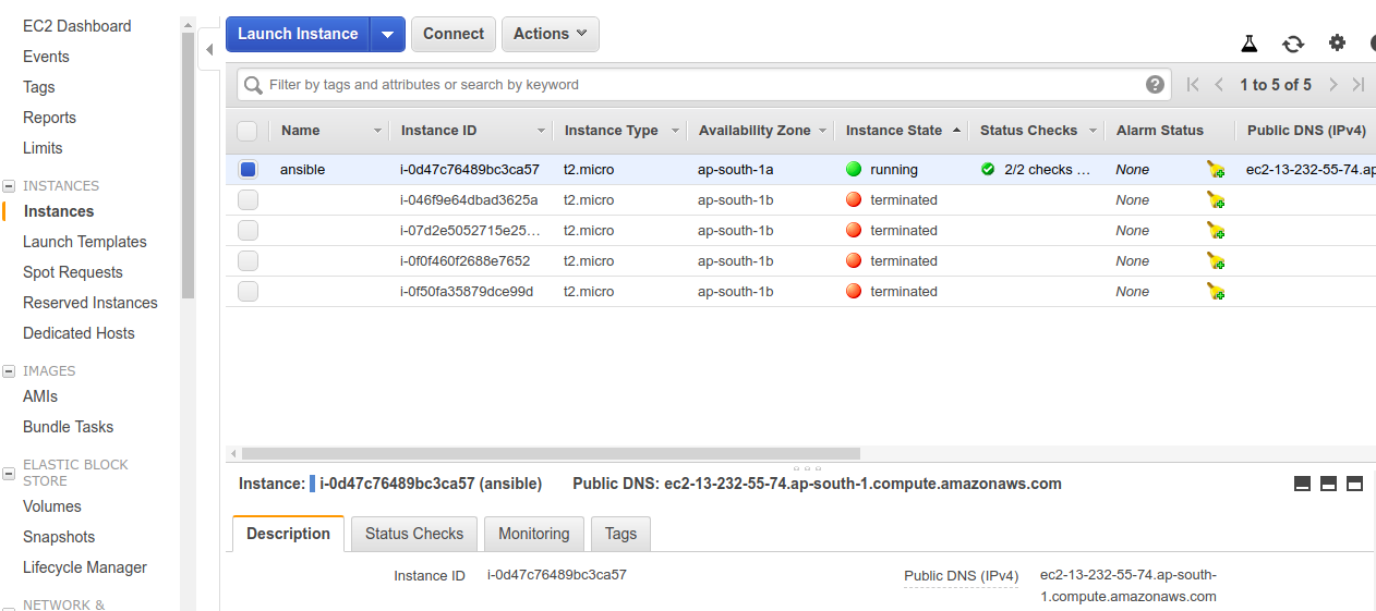 how to launch aws instance using ansible - Linux & AWS
