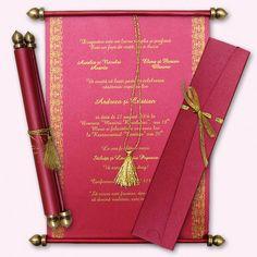 Tarjeta de Invitación Novedosa Pergamino en Caja