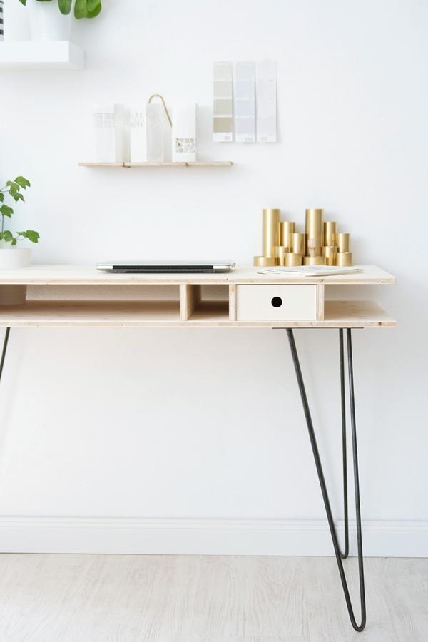 DIY Schreibtisch mit Hairpin Legs