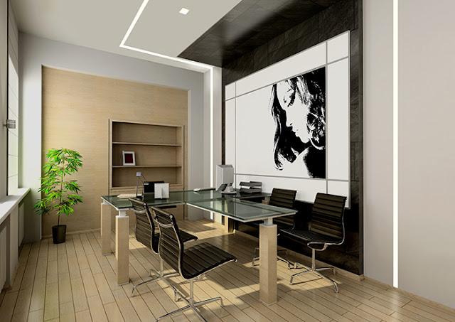 офисное помещение дизайнерский свет