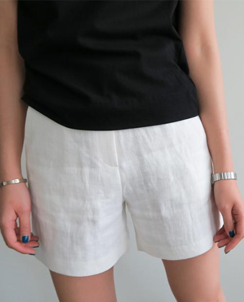Linen High Rise Shorts