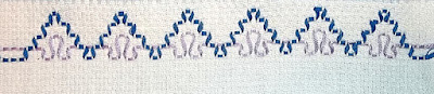 Swedish weaving sample Step 2