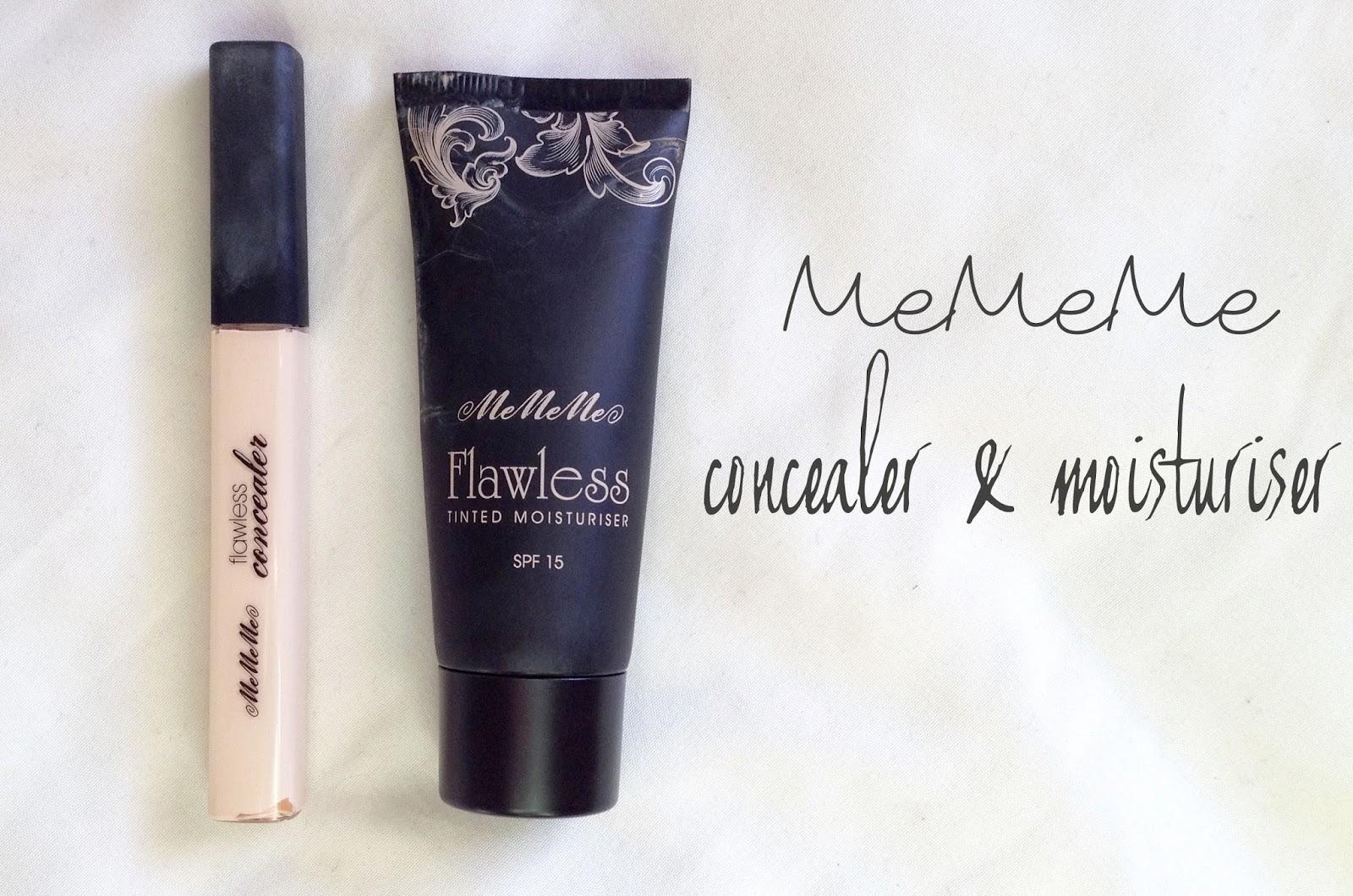 me me me cosmetics conealer and tinted moisturiser