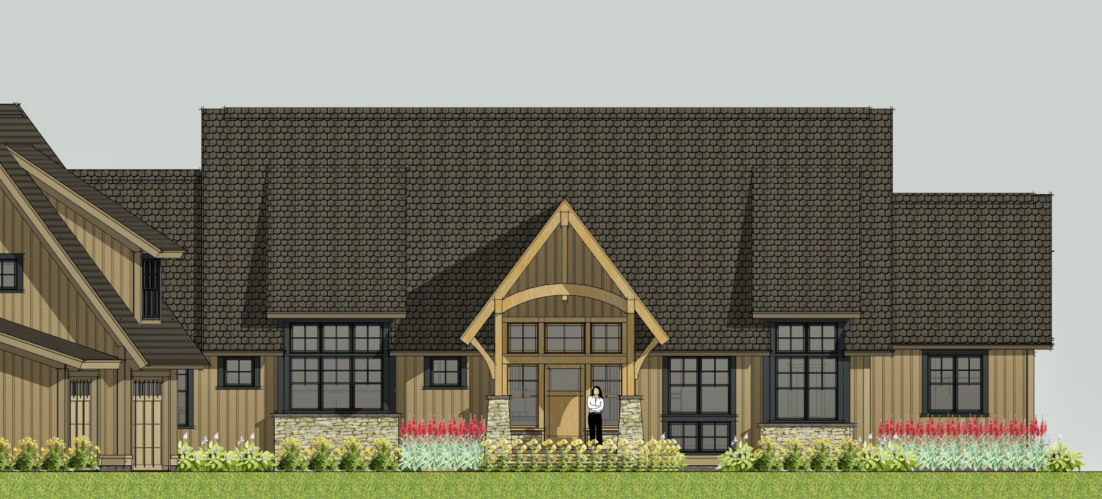 Simply Elegant Home Designs Blog: Home Plans from Big to Modest on