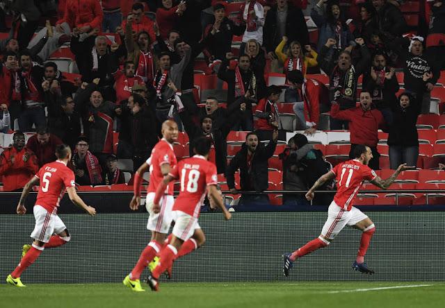 Vitória sem sofrer gols deu uma grande vantagem ao Benfica para a volta (Foto: Francisco Leong/AFP)