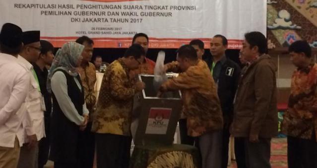Hasil Rekapitulasi Suara Tingkat Provinsi Pilkada DKI Jakarta 2017, Ahok Unggul 42,99%
