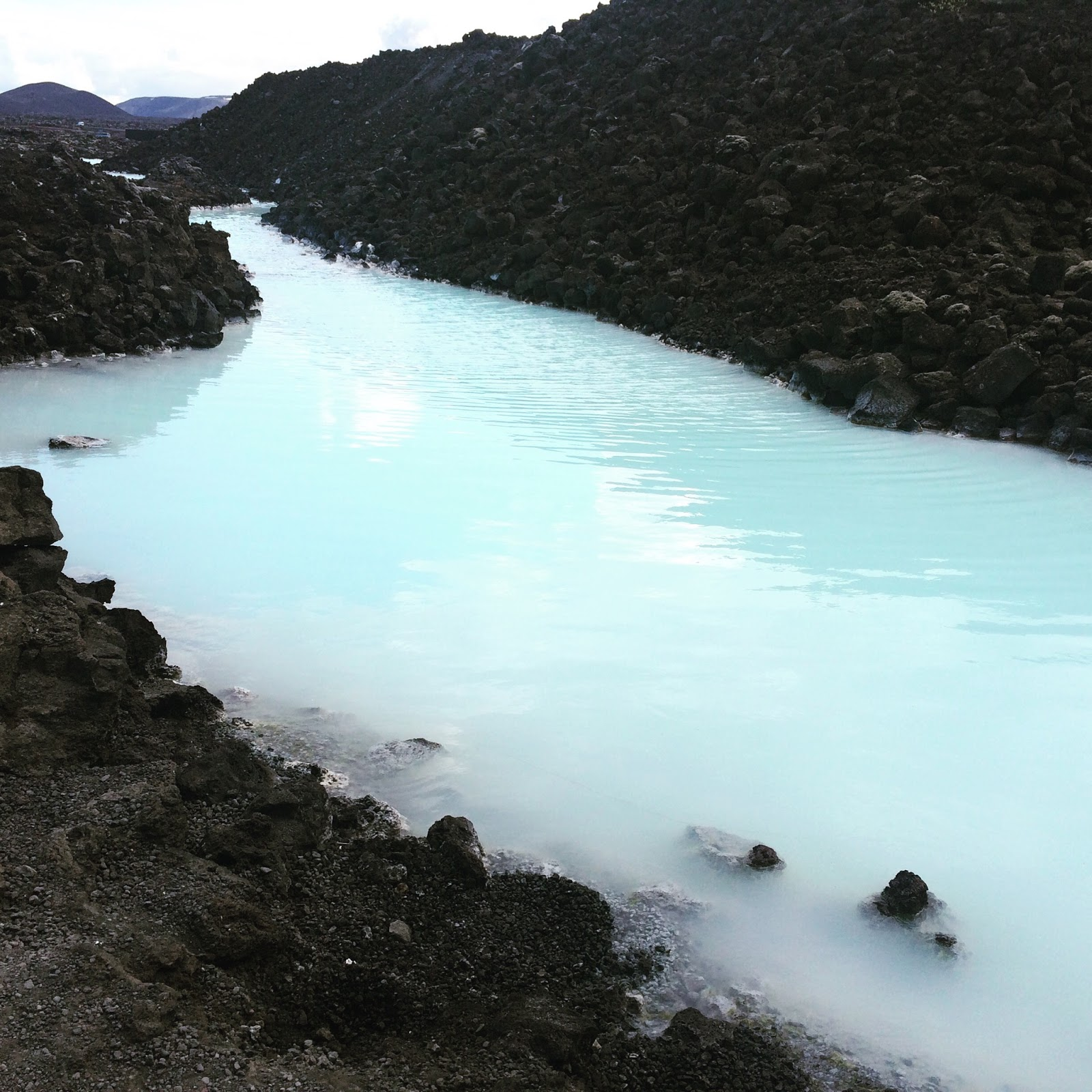 The water in Blue Lagoon, Iceland
