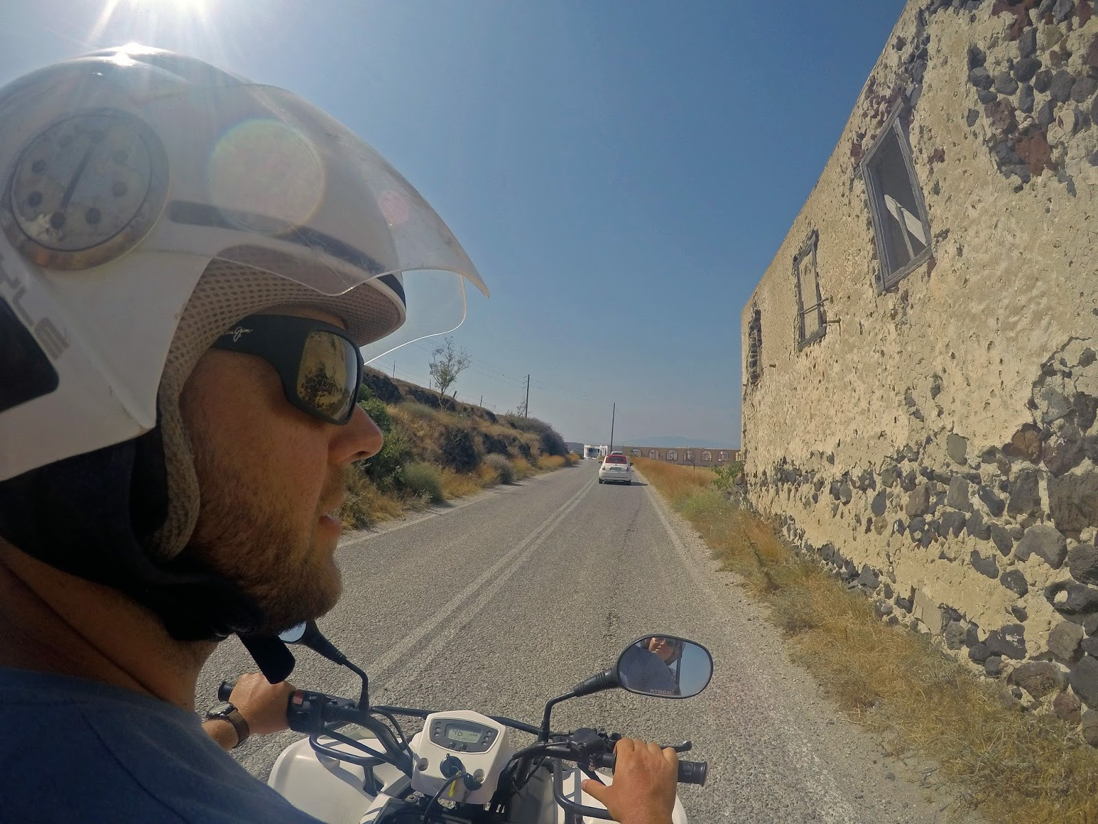 Quad biking around Santorini