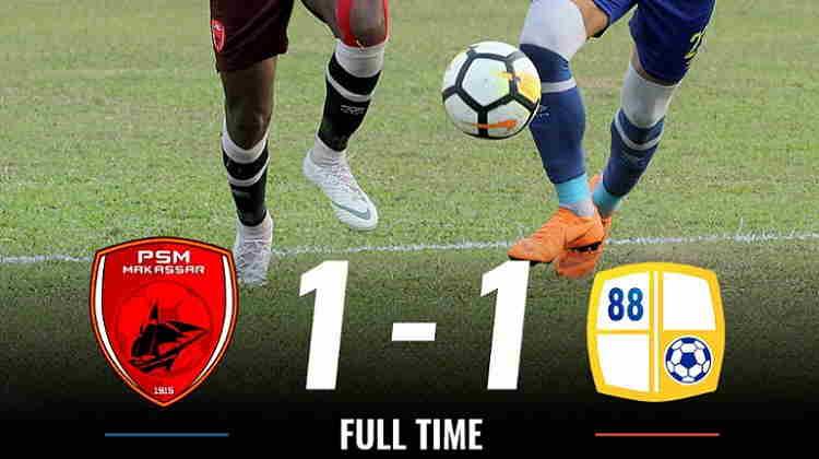 Hasil PSM Makssar vs Barito Putera Skor Akhir 1-1   Liga 1 Pekan 21