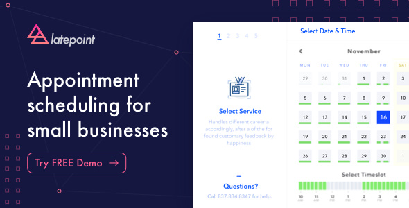 LatePoint v1.0 – Appointment Booking & Reservation plugin