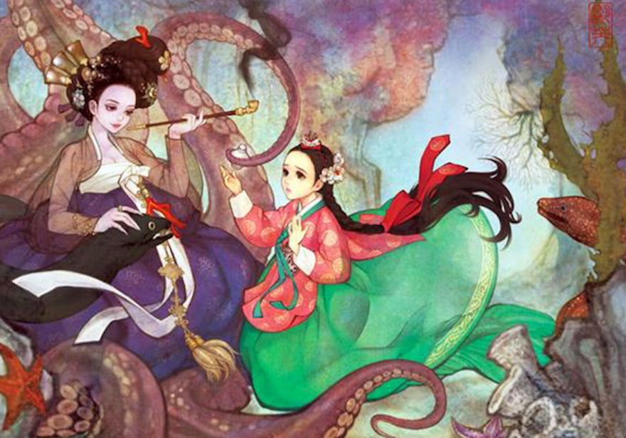 Famous Western Fairytales Get An Eastern Makeover By Korean Artist - Little Mermaid