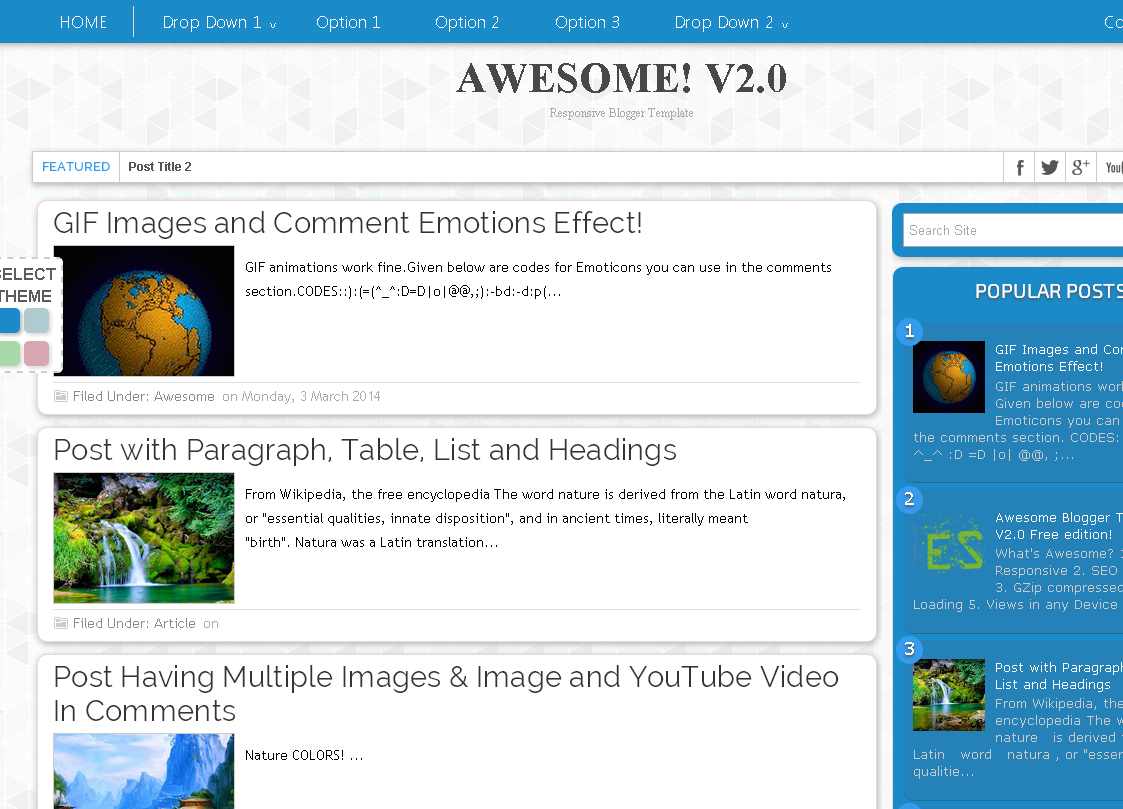 Awesome!V2 Blogger Template