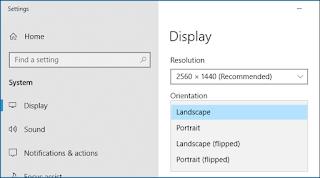 Windows 10, Display settings