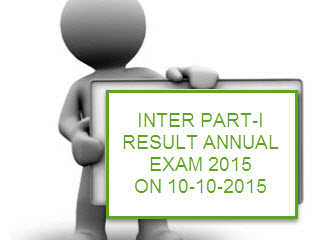 Inter Part I Annual 2015 Examination Result