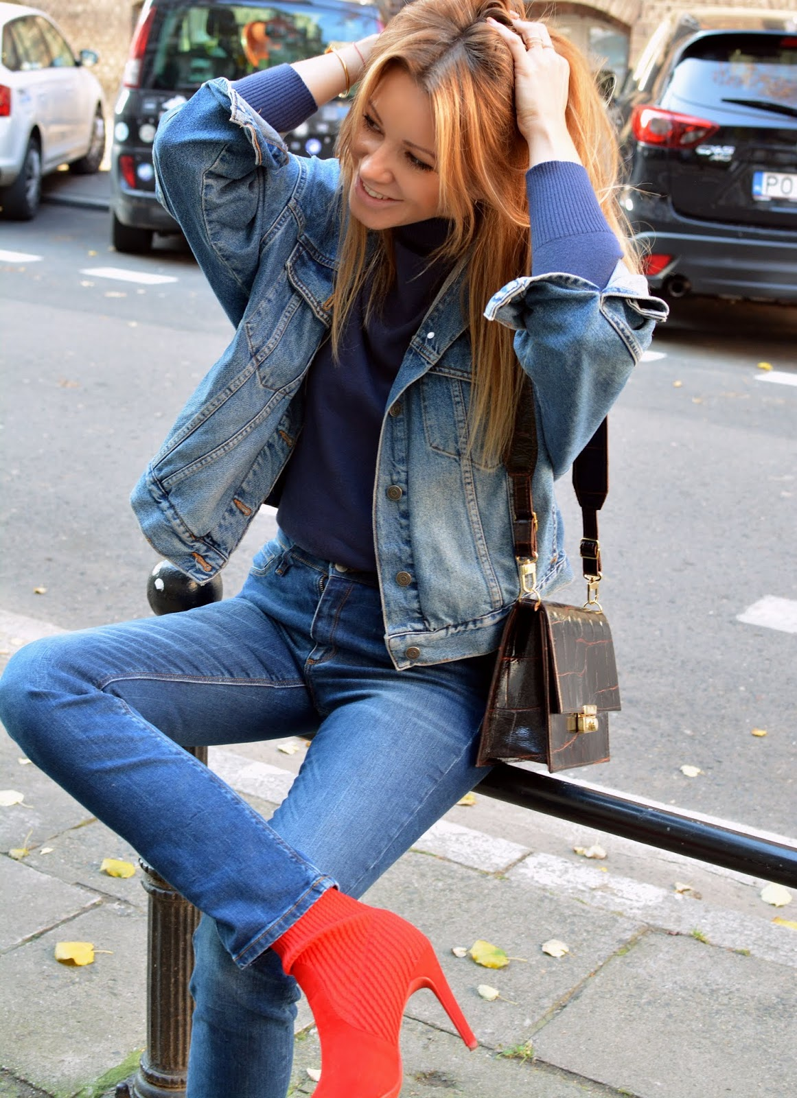 Jeans + Red Boots