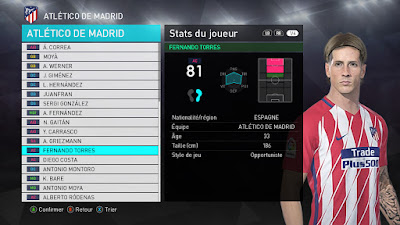 PES 2018 Faces Fernando Torres by Facemaker Tiitoo