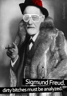 Lustiger Spruch Sigmund Freud analysiert hochbegabt