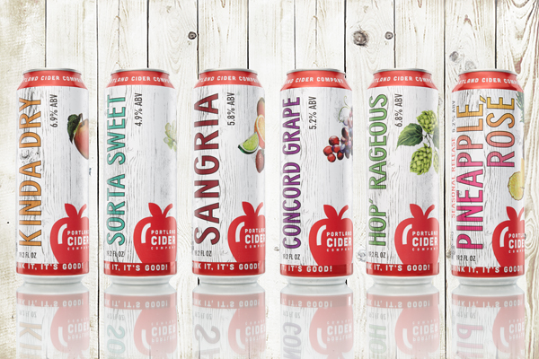 Portland Cider Releases 6 of its Most Popular Ciders in 19.2-Ounce Cans