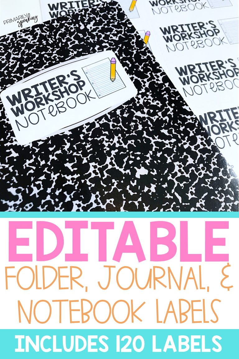 Folder, Journal, & Notebook Labels