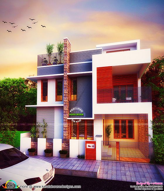 Majestic contemporary home plan