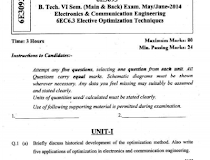 University of Rajasthan (Uniraj) Old Question Papers