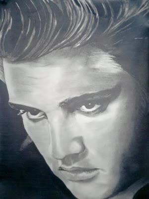 Retrato de Elvis Presley realizado por el francés Remi