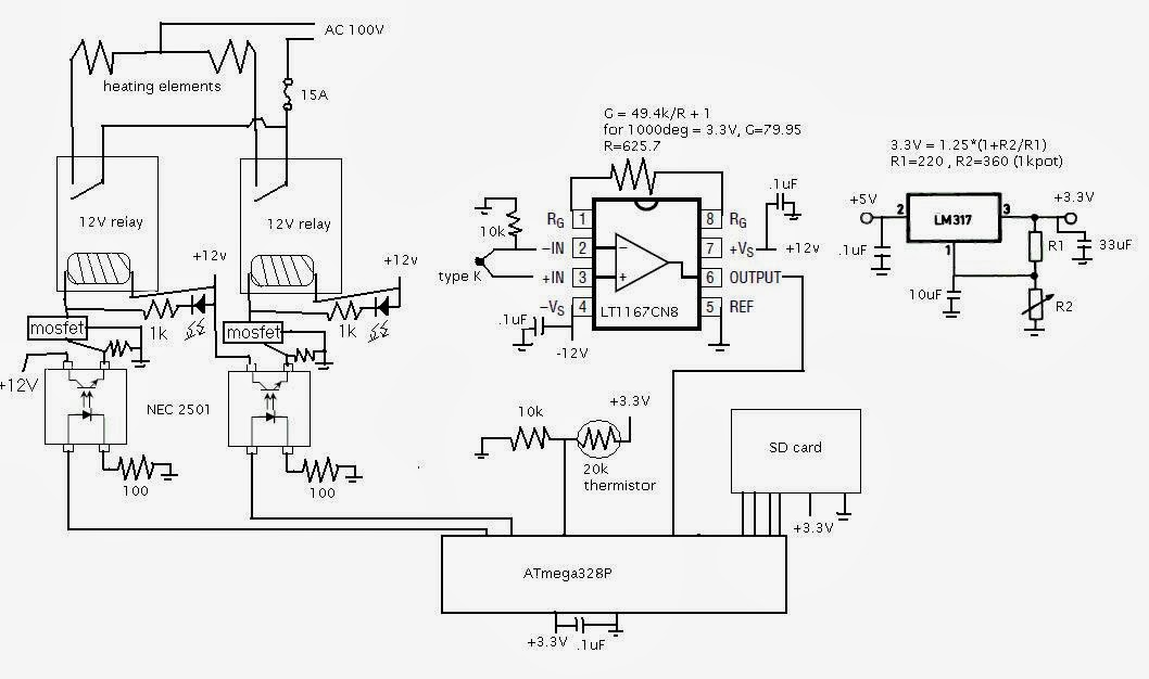 pid controller wiring diagram 230v
