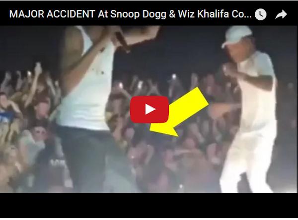 Se desploma baranda llena de gente en concierto de Snoop Dogg