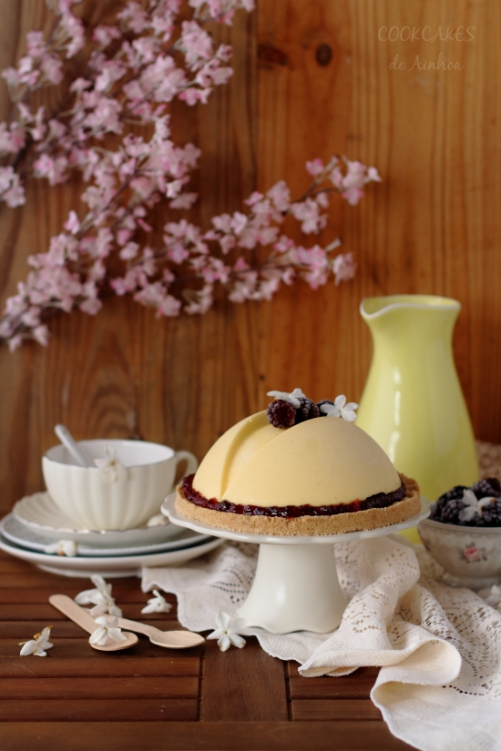 Tarta Mousse de Mango y Mora (sin horno)