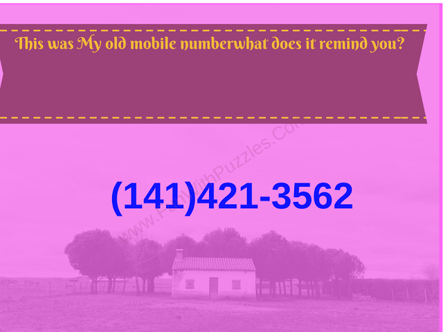 Mathematical Phone Number Riddle