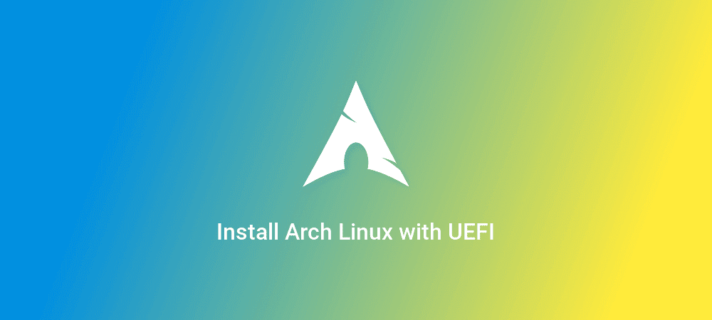 Cara install Arch Linux