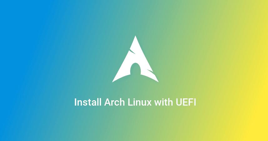 Cara instal Arch Linux dengan UEFI (Tutorial Lengkap) - Emirar