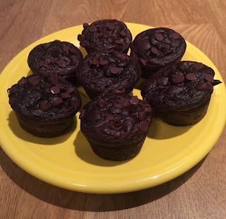 Delicious and low calorie chocolate muffins