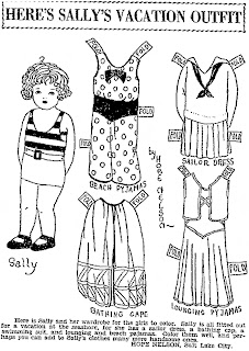 Mostly Paper Dolls Too!: Here's Sally's Vacation Outfit