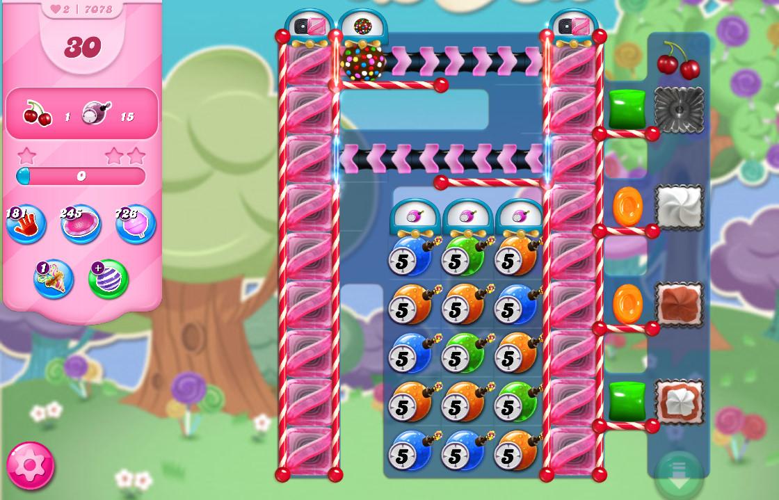 Candy Crush Saga level 7078