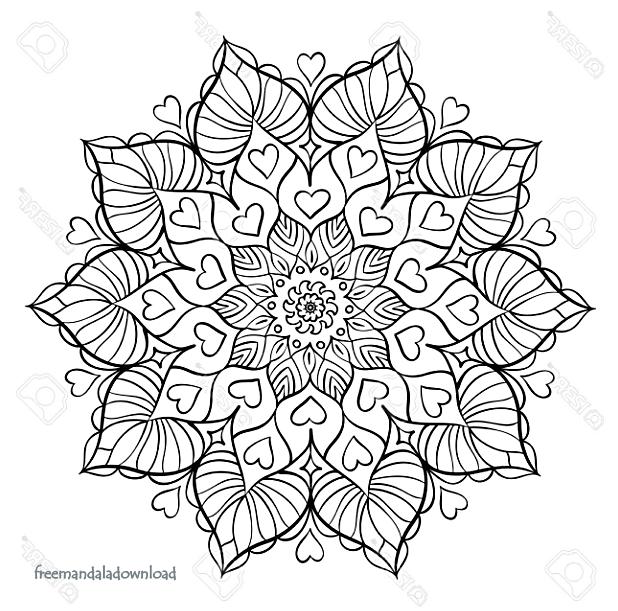 Neue Mandala Farbseiten   Free Mandala Download