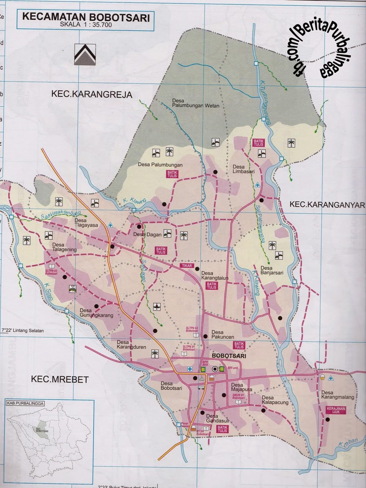 Peta Kecamatan Bobotsari | Download Peta Purbalingga ...