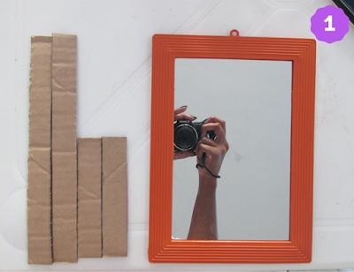 DIY bandeja espelhada - passo 1
