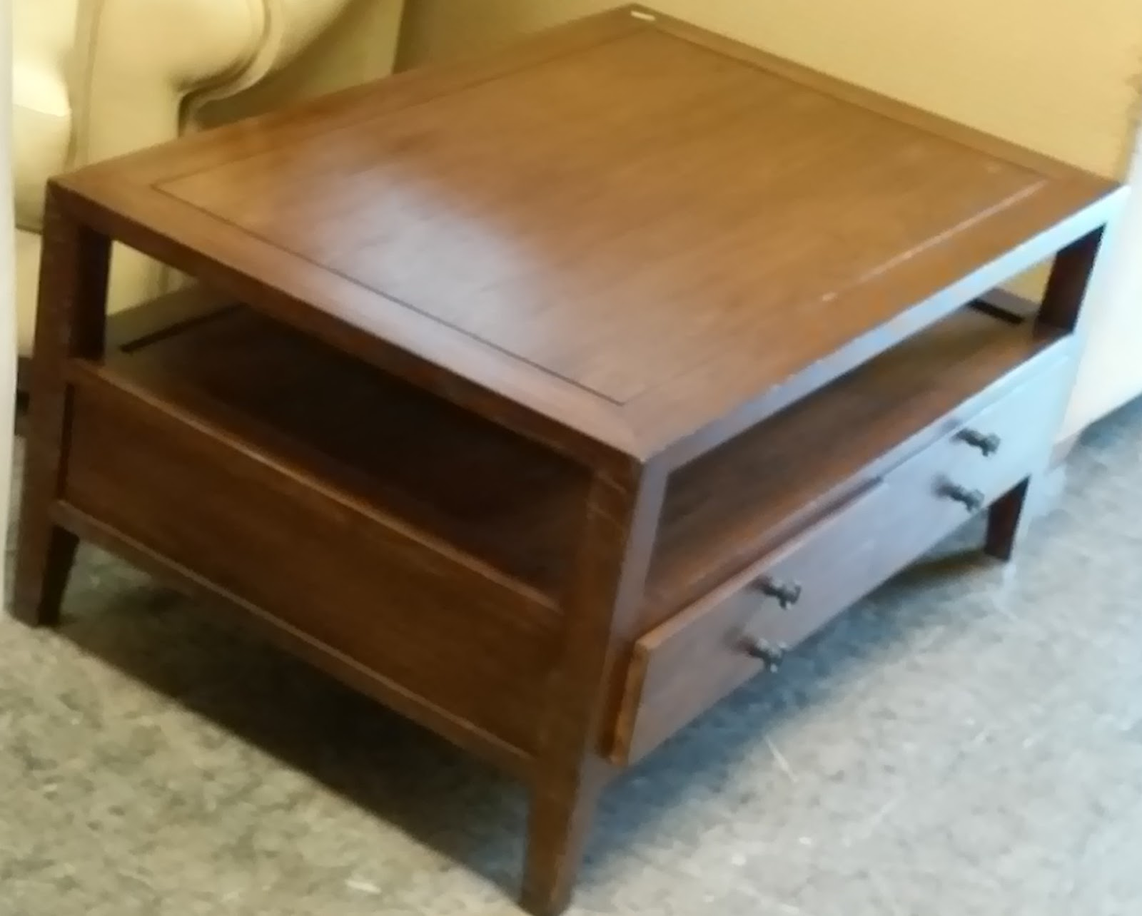 Uhuru Furniture Collectibles Sold Reduced Asian Teak Coffee Table With Drawers 60