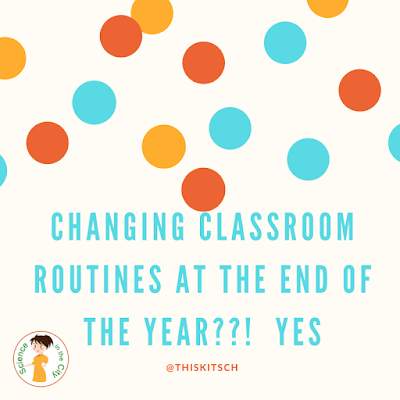 What kind of classroom routines do you put in place?  As the year wraps up, I think it is a critical time to think about classroom expectations and routines that you want to change for next year. It is also a good time to try out a new procedure or routine that you are thinking about for next year.