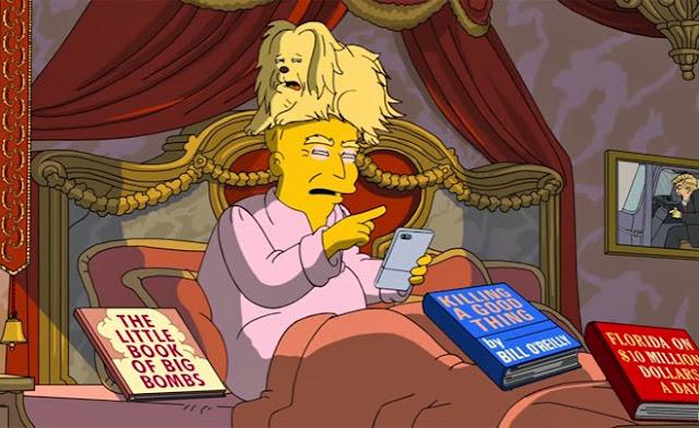 Los Simpson hacen parodia por los 100 días de Trump