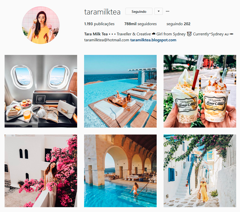Top 10 Instagrammers Travel Bloggers para seguir taramilktea Tara Whiteman Indicações Dicas Instagram Pictures Photos Viajante Travelblogger Stephanie Vasques Viagens Não é Berlim blog naoeberlim