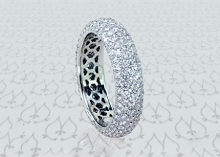 Different Types of Pave Diamond Bands
