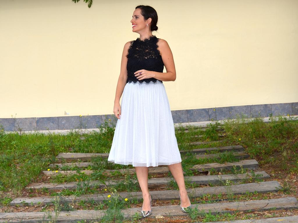 top-encaje-falda-tul-zara-look-street-style