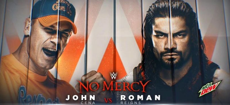 WWE No Mercy 2017 John Cena vs Roman Reigns